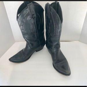 Black Cowboy Boots Size 8